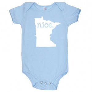 Minnesota 'Nice.' Cotton One Piece Bodysuit - Infant Girl and Boy