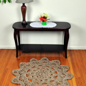 Large Mandala Rug - Jute Rope Rug - Flower Rug for Entryway or Foyer - Handmade