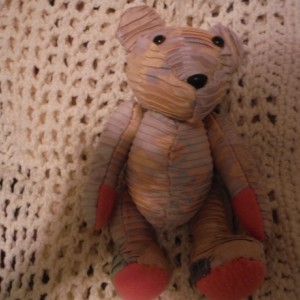 Vintage Pinkish Pleated Baby Star Bear