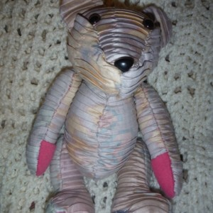 Vintage Pinkish Pleated Baby Star Bear