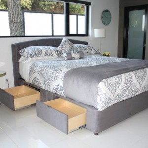 Luxuriuos Chic Modern Storage Bed - Platform Storage Bed with Large Hidden Storage Drawers - Custom Tailored Made in the USA