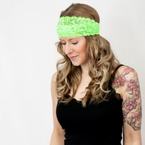 Neon Green Lace Headband