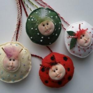 Felt Pendant, Easter Bunny bug, needle felted necklace, statement necklace,bunny pendant