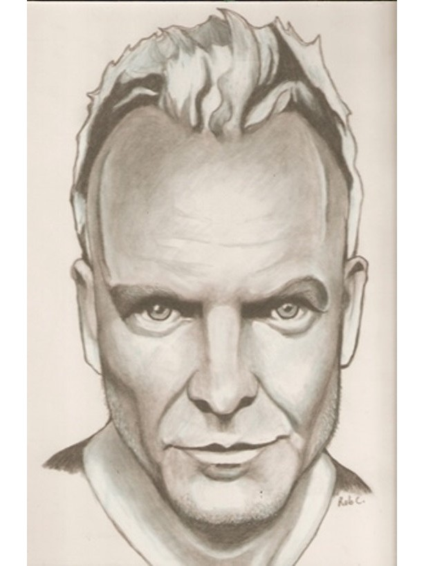 Original Sting drawing, The Police