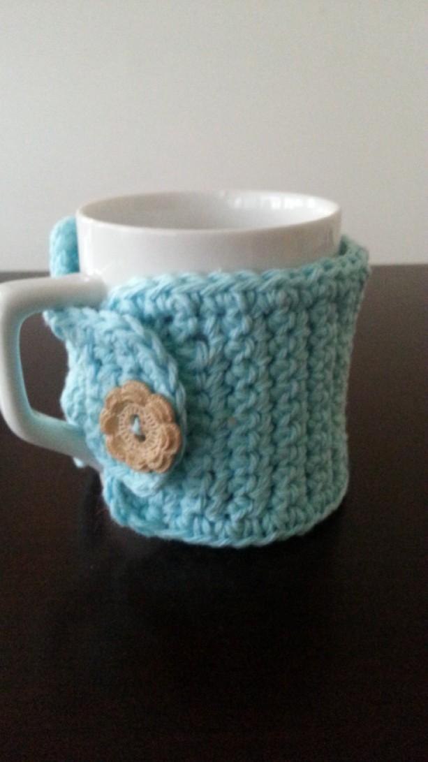 Aqua Blue Coffee Mug Cozy