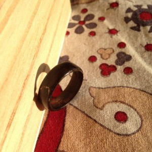 Ebony bentwood ring