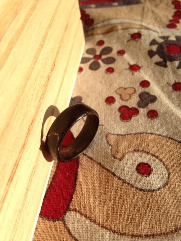 Ebony bentwood ring