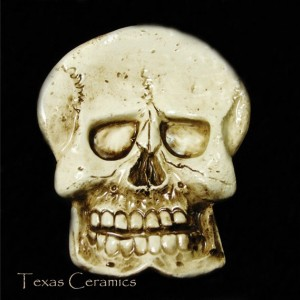 Old Aged Ceramic Skull Tea Bag Holder Small Spoon Rest Desk Accessory Skull Ware