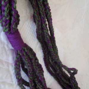 Purple and Green Crocheted Scarf - Great for Spring and Summer - Makes a Great Gift - Perfect for teenagers and young adults
