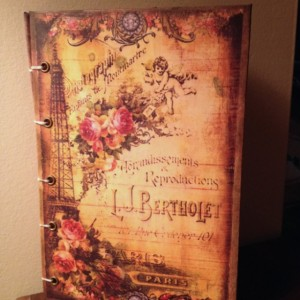 Vintage Parisian Inspired Journal