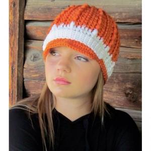 Orange & White Hollywood Hat