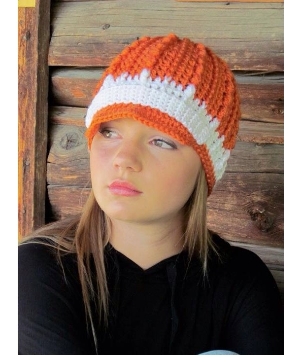 Orange & White Hollywood Hat