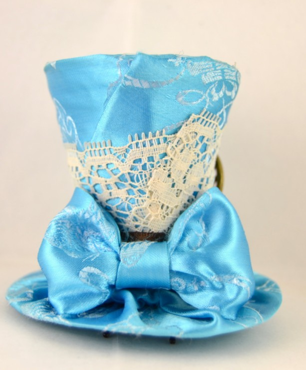 ... Tiny Top Hat- FREE SHIPPING-Mini top hat- Light blue tiny top hat ... c952d7eaf5d