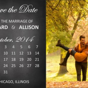 Save the Date Postcard - Printable or Printed - Chalkboard - Calendar - Heart - Photo - Customized - Love -Quote - Modern - Elegant Fonts
