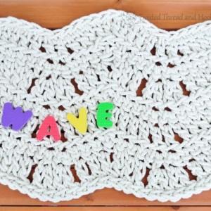 Sea Waves Mat - Sea Decor - Beach Decor Bathmat - Handmade Rug