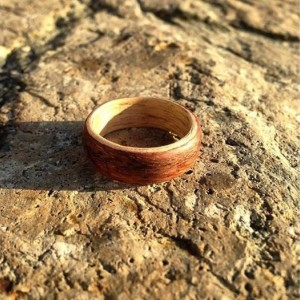 Walnut and Ash Bentwood Ring