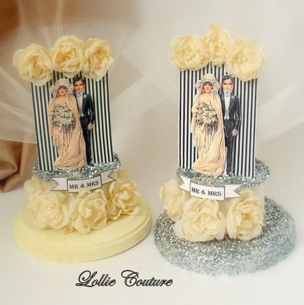 Art Deco Wedding Paper Cake Topper Wedding Cake Topper Gatsby Wed ...