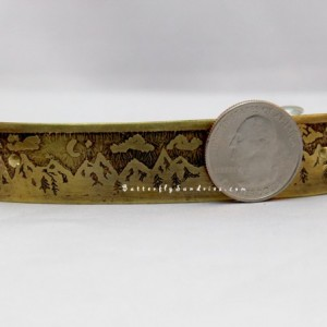 80MM Handmade Starry Night Etched Hair Clip  - Beautiful World Collection - Made to Order in Copper or Brass