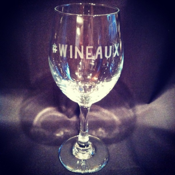 etched hashtag wineaux wine glass louisiana wine glass mardi gras wine glass cajun - Etched Wine Glasses