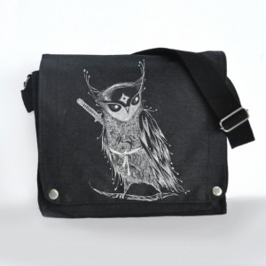 Samurai Owl Messenger bag