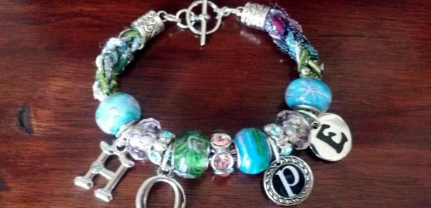 Hope charm bracelet, fashion jewelry, handmade bracelet, knit bracelet, charm bracelet, inspiration jewelry, women's bracelet, unique gift