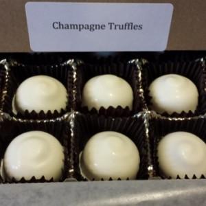 Champagne Chocolate Truffles / chocolate / unique / gluten free / fun / different /  gift / present / favor / milk / dark /white