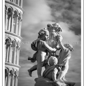"Fountain with Angels - 16"" x 24"" Italy print 