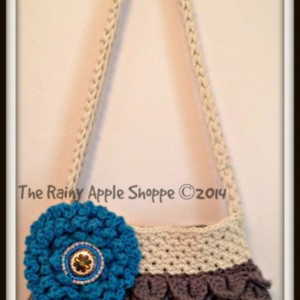Shoulder bag, Crocheted handbag, handmade purses, totes, lined handbag, mermaid tears handbag, women's handbags, crochet handbags