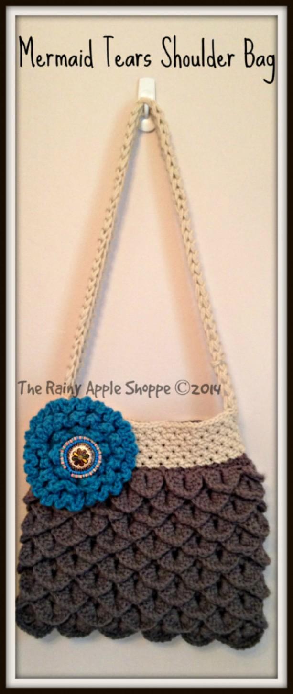 Shoulder Bag Crocheted Handbag Handmade Purses Totes Lined Mermaid Tears