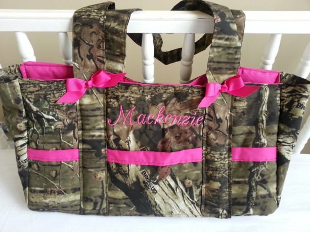Mossy Oak Break Up Camo Diaper Bag 6pocket With Name