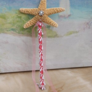 Coral Flower Girl  Starfish Wand for Beach, Destination, Cruise, Seaside, Summer Wedding, Wedding Accessories