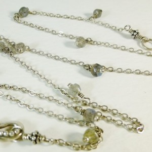 Gemstone & Sterling Silver Journey Necklace,labradorite,bali silver, cute necklace, gemstone necklace, cute necklace, pearl, customize