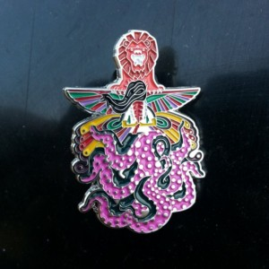 "Bassnectar Inspired ""Down like Animals"" Collectable Pin"