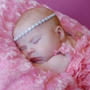 Royal Bling Tie Back- Newborn Photography Prop-headband-photo prop