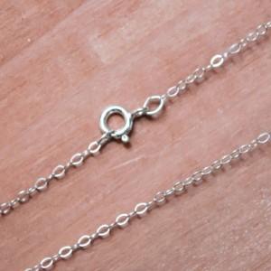 Silver Dog Bone Charm Necklace