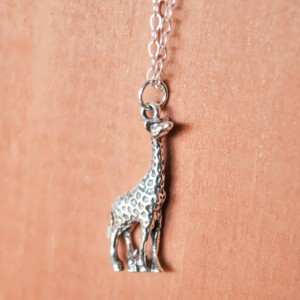 Sterling Silver Giraffe Charm Necklace