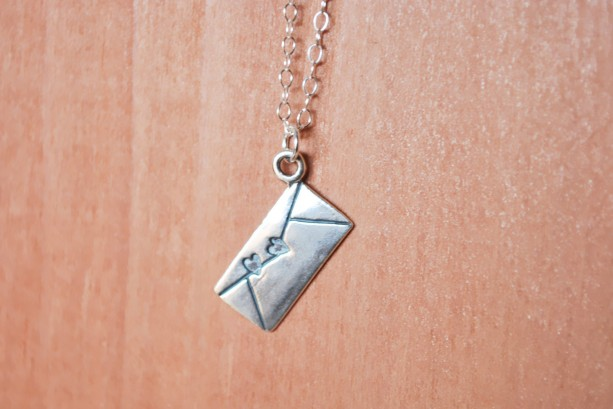 Sterling Silver Love Letter Charm Necklace
