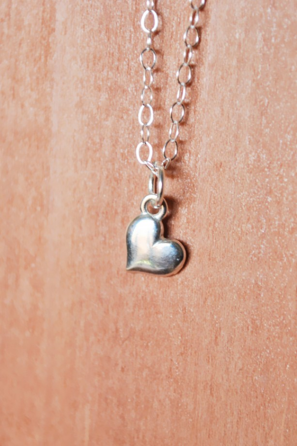 Sterling Silver Mini Heart Charm Necklace