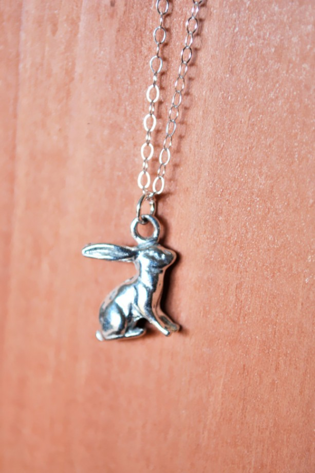 Silver Rabbit Charm Necklace