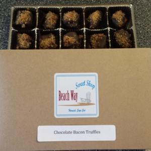 Chocolate Bacon Truffle / chocolate / unique / gluten free / fun / different /  gift / present / favor / milk / dark /white