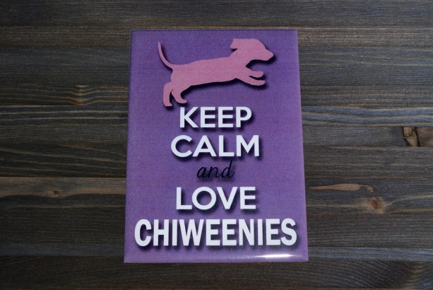 Magnet, fridge magnet, Keep Calm and Love Chiweenies
