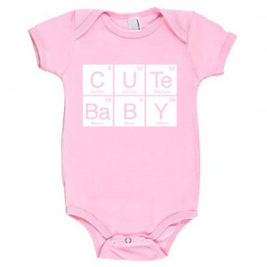 Cute Baby Periodic Table Cotton Baby One Piece Bodysuit - Infant Girl and Boy