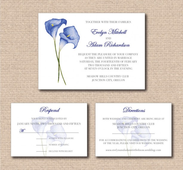 ... Traditional Wedding Invitation And RSVP Card With Option Of Adding A  Directions And/or Accommodations