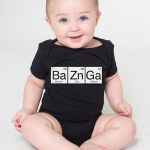 BaZnGa Periodic Table Cotton Baby One Piece Bodysuit - Bazinga Infant Girl and Boy