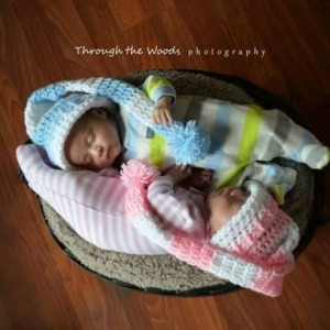crochet long pixie sleeping caps your choice of color / handmade / photo prop / hat
