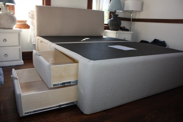 Isabella Plaform Storage Bed 8 Drawer Upholstered Handcrafted In The Usa Custom