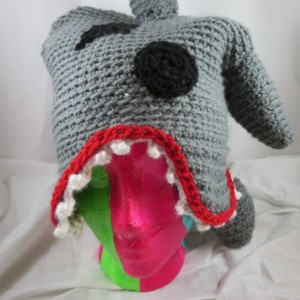 Crocheted Shark Attack Hat