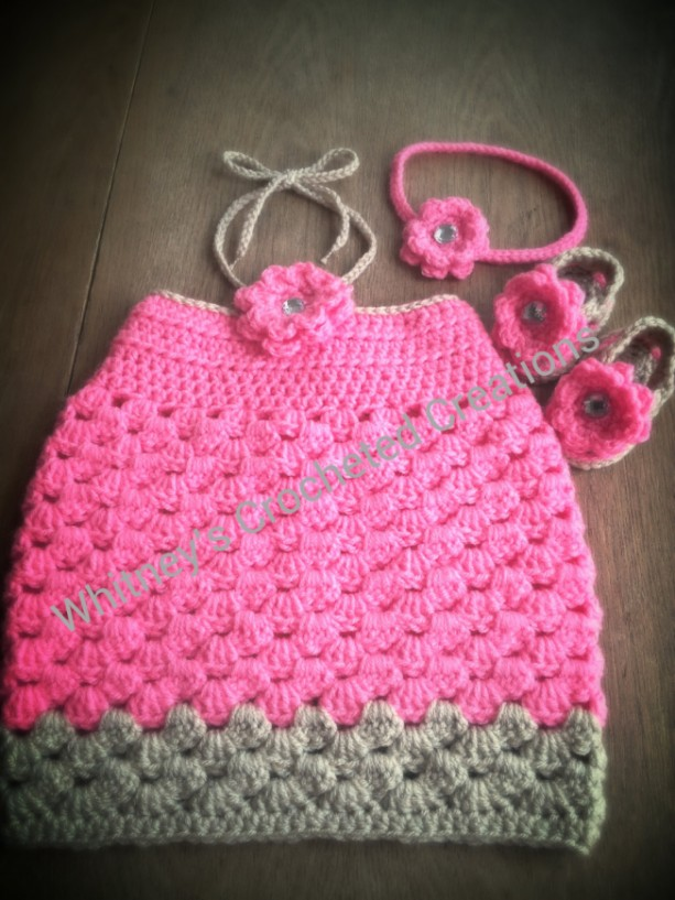 crochet halter dress set your choice of colors sizes up to 24 months