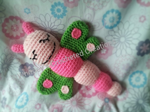 Crochet Dragonfly Plushie, Rattle, Stuffed Animal, Butterfly, Photo Prop,  Baby Toy
