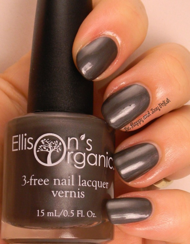 Chim Chim Cher-ee - Dark Grey Nail Polish - 3-free, Vegan, colored with natural mica